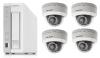 QNAP防犯カメラセット(NASレコーダー(3TB)+固定ドームカメラ4台) 小規模店舗や事務所用
