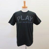【メンズ】PLAY COMME des GARCONS 半袖Tシャツ 綿天竺プリント 黒【新品】