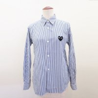 PLAY Comme des Garcons シャツ・ブラウス レディース ストライプ PLAY LADIES STRIPED SHIRT AZ-B017-051-1<img class='new_mark_img2' src='//img.shop-pro.jp/img/new/icons15.gif' style='border:none;display:inline;margin:0px;padding:0px;width:auto;' />
