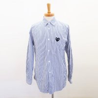 PLAY Comme des Garcons メンズ シャツ ストライプ PLAY MENS STRIPED SHIRT AZ-B018-051-1<img class='new_mark_img2' src='https://img.shop-pro.jp/img/new/icons15.gif' style='border:none;display:inline;margin:0px;padding:0px;width:auto;' />