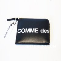 Wallet COMME des GARCONS HUGE LOGO L字型ZIP財布 黒 COW HIDE  CdG-8Z-T031-051-1<img class='new_mark_img2' src='https://img.shop-pro.jp/img/new/icons15.gif' style='border:none;display:inline;margin:0px;padding:0px;width:auto;' />
