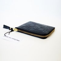 Wallet Comme des Garcons 財布 L字型ZIP 黒 EMBOSSED LOGO TYPE 8Z-J031-051-1<img class='new_mark_img2' src='https://img.shop-pro.jp/img/new/icons15.gif' style='border:none;display:inline;margin:0px;padding:0px;width:auto;' />
