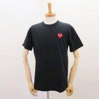 【メンズ】プレイ・コムデギャルソン半袖Tシャツ 黒 綿100% 赤エンブレム【新品】