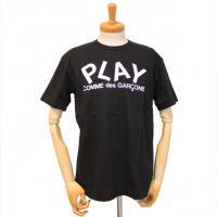 【メンズ】プレイ・コムデギャルソン半袖Tシャツ 黒 綿100% プリント白【新品】