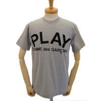 【メンズ】 PLAY COMME des GARCONS 半袖Tシャツ TOPグレー 綿TOP天竺プリント