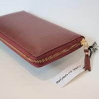 【ユニセックス】 Wallet COMME des GARCONS 長財布二つ折りZIP財布 ブラウン LUXURY LINE CdG-8F-D110-051-2