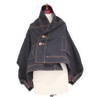 【レディース】 tricot Comme des Garcons 長袖ジャケット 紺XA柄 TL-J006-051-1
