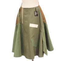 【レディース】 tricot Comme des Garcons スカート カーキ 綿100% CdG-TL-S001-051-2