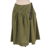 【レディース】 tricot Comme des Garcons スカート カーキ 綿100% CdG-TL-S004-051-3