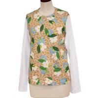 【レディース】 tricot Comme des Garcons 長袖Tシャツ A柄X白 綿100% CdG-TL-T004-051-1