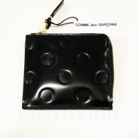 Wallet Comme des Garcons 財布 L字型ZIP 黒 水玉柄 Dots Embossed Line SA3100NE-1  8Z-F031-051-1<img class='new_mark_img2' src='//img.shop-pro.jp/img/new/icons15.gif' style='border:none;display:inline;margin:0px;padding:0px;width:auto;' />