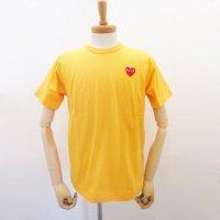 【メンズ】PLAY COMME des GARCONS 半袖Tシャツ イエロー 綿100% 赤エンブレム |コムデギャルソン