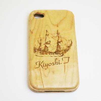 iphone4 4s 専用木製ケース3
