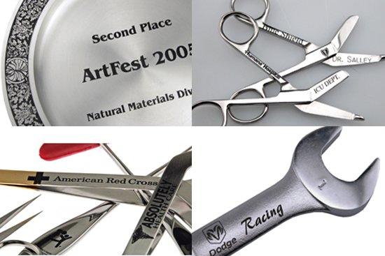 ステンレス/チタンへのマーキング加工・名入れ彫刻加工