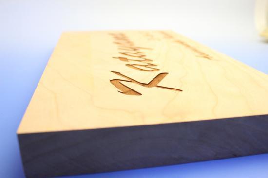 木材素材に刻印 レーザー彫刻4