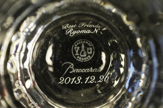 バカラ名入れ彫刻 カプリ ショットグラス2955