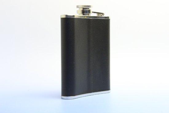 名入れウィスキーフラスコ 黒貼 ステンレス製4