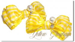<img class='new_mark_img1' src='https://img.shop-pro.jp/img/new/icons55.gif' style='border:none;display:inline;margin:0px;padding:0px;width:auto;' />Yellow Gingham*Pearl