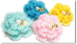 Knit flower*pearl