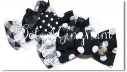 Dot & Gingham*Black