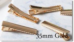 プラバレッタ40mm→ ワニピン35mm:goldへ変更