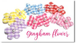 Gingham Flower*You can customize!