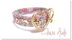LIBERTY Claire Aude Heart pink◆miniベルト