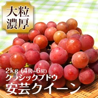 クラシックブドウ 安芸クイーン 2キロ 4〜6房