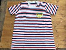 トリコロールボーダーTシャツ/BUHI PANIC