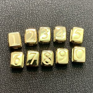 イニシャルビーズ数字30g用  0〜9[K18]