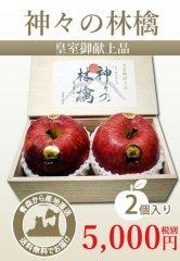 「神々の林檎」(皇室献上品) 農薬不使用林檎、最高級林檎、贅沢な逸品!【2個入り】12月1日からのご発送となります。を産地直送で通信販売