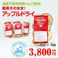 完全農薬不使用栽培 青森りんごのドライフルーツ! アップルドライ【30g×6袋】を産地直送で通信販売