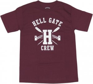 <img class='new_mark_img1' src='https://img.shop-pro.jp/img/new/icons20.gif' style='border:none;display:inline;margin:0px;padding:0px;width:auto;' />LICK NYC HELL GATE CREW Tシャツ -バーガンディ