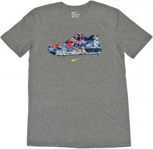 NIKE WATER COLOR SNEAKER Tシャツ -グレー
