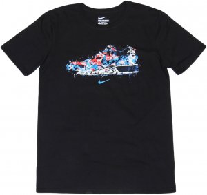 NIKE WATER COLOR SNEAKER Tシャツ -ブラック