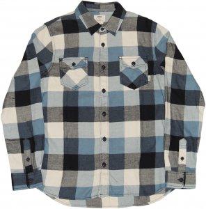 VANS 長袖ブロックチェックシャツ -ブルー
