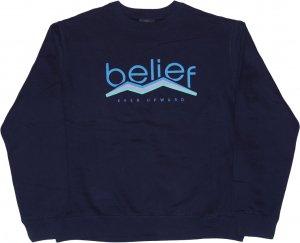 Belief NYC PEAK クルーネック スウェット -ネイビー
