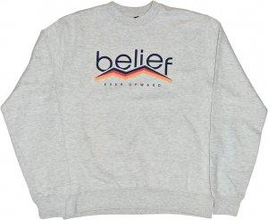 Belief NYC PEAK クルーネック スウェット -グレー