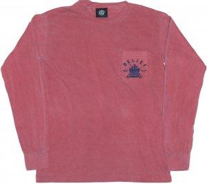 Belief NYC QUEENSBORO L/S ポケットTシャツ -ブリック