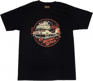 BENNY GOLD AIR ADVENTURE Tシャツ -ブラック