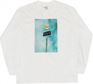 THE QUIET LIFE PEACE OUT LONG SLEEVE Tシャツ -ホワイト