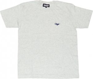 CROOZE SCRIPT ONE POINT Tシャツ -アッシュ
