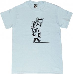 THE QUIET LIFE STACKED BOXES Tシャツ -ライトブルー