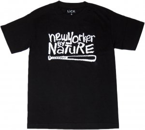 LICK NYC NEW YORKER BY NATURE Tシャツ -ブラック