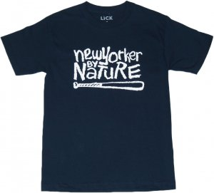 LICK NYC NEW YORKER BY NATURE Tシャツ -ネイビー