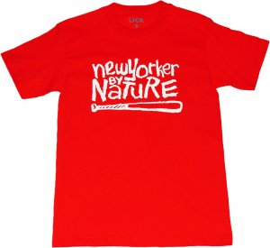 LICK NYC NEW YORKER BY NATURE Tシャツ -レッド