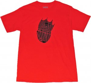 LICK NYC KING OF BROOKLYN  Tシャツ -レッド