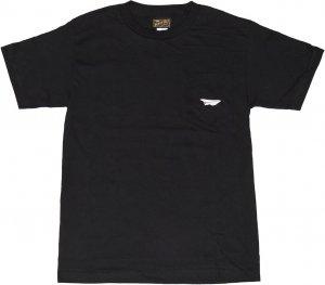 BENNY GOLD CLASSIC PAPER PLANE  ポケットTシャツ -ブラック