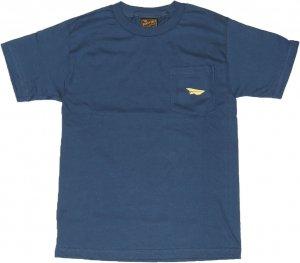 BENNY GOLD CLASSIC PAPER PLANE  ポケットTシャツ -ハーバーブルー
