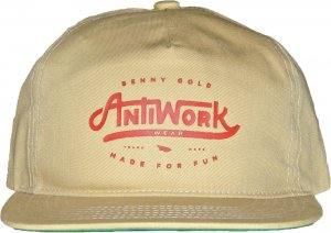 BENNY GOLD ANTI-WORK TWILL UNSTRUCTURED スナップバック -ベージュ